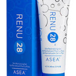 Renu28 tube and blue package