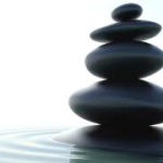Stacked rocks on water