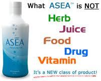 ASEA is not an herb, juice, food, drug, or vitamin