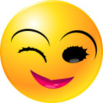 Female Smiley Face Winking about Calendar