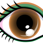 image of a brown eye