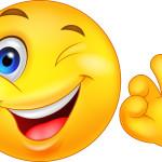 smiley face OK sign