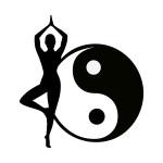abstract yoga pose yin yang
