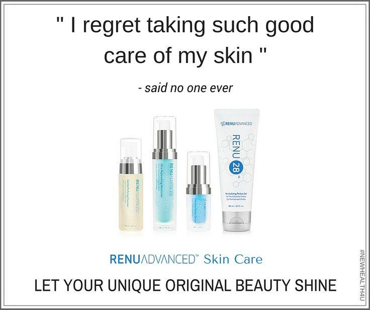 Renu28 + additional skin care products like cleanser and serum