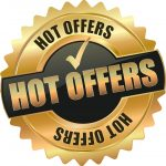 """gold and black medallion with words """"Hot Offers"""""""